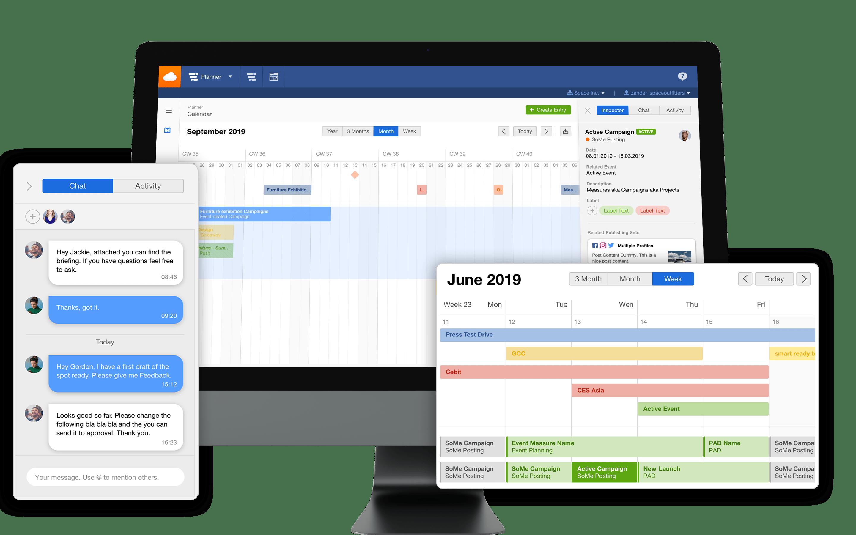 Planner Content planning & project management avec Facelift Cloud