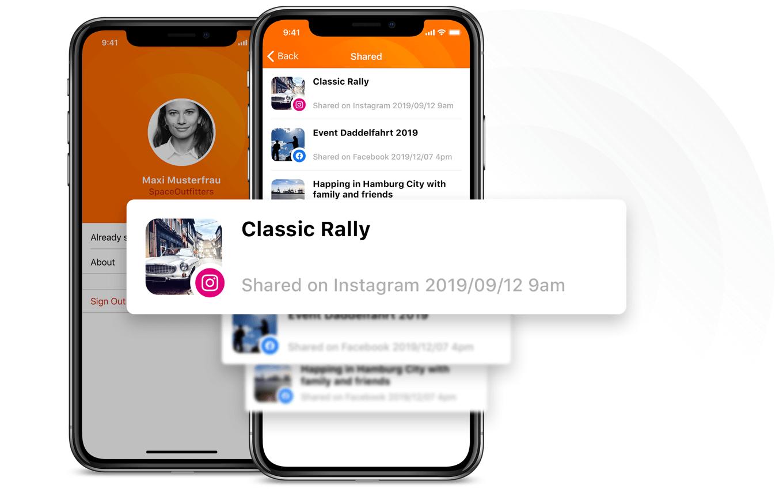 Social Share App - Contrôle et vue d'ensemble